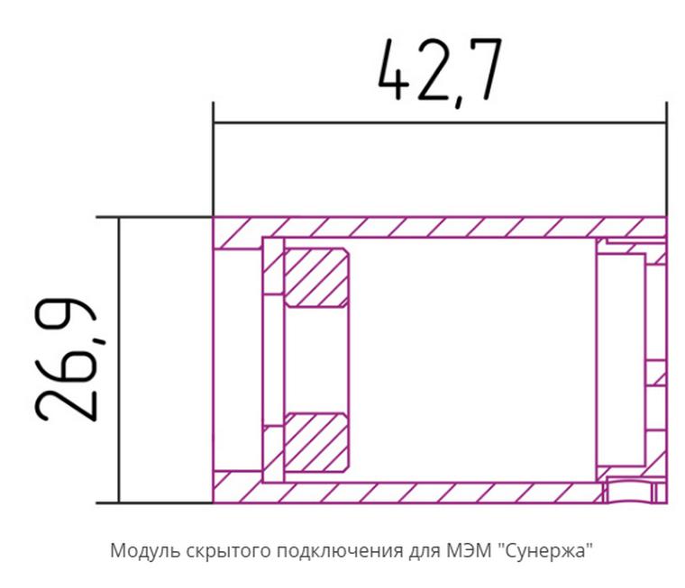 Размеры блока скрытого монтажа