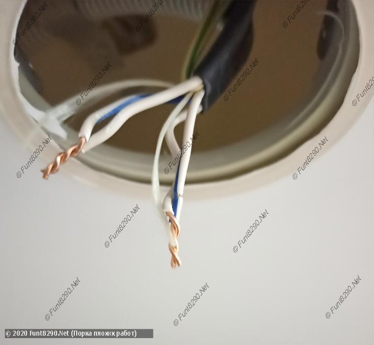 Кривой монтаж светильников в натяжном потолке