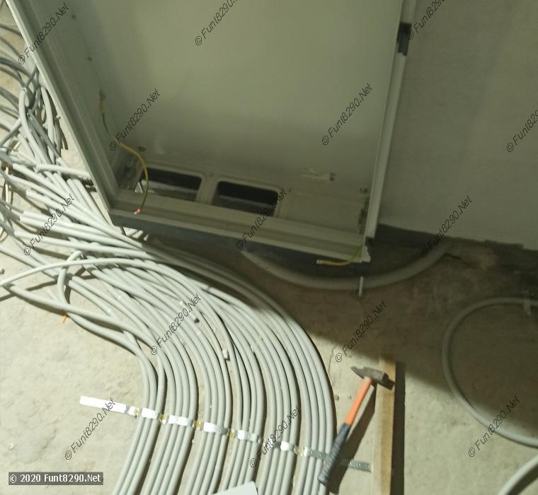 Подготовка ввода кабелей в щит