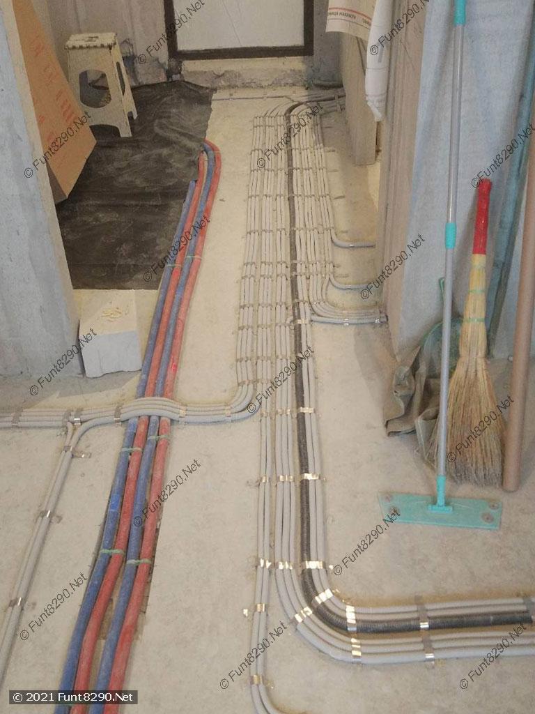 Раскладка электрики по полу